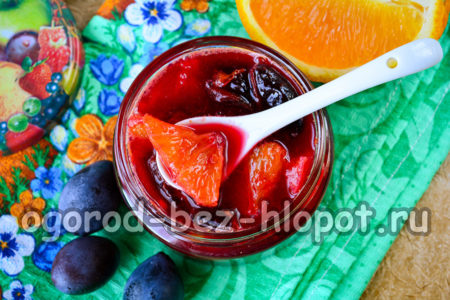 варенье из слив с апельсином