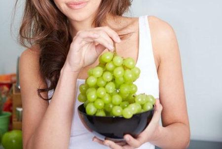 преимущество похудения на винограде