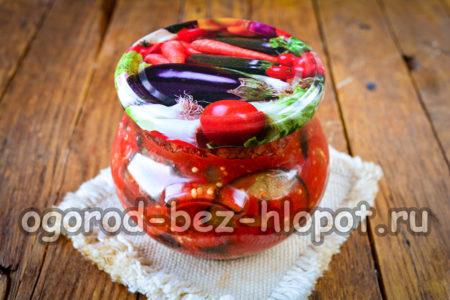 баклажаны в томате готовы