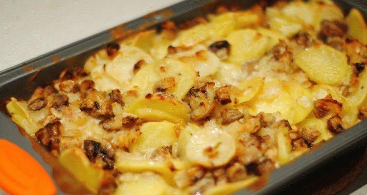 Рядовки с картофелем