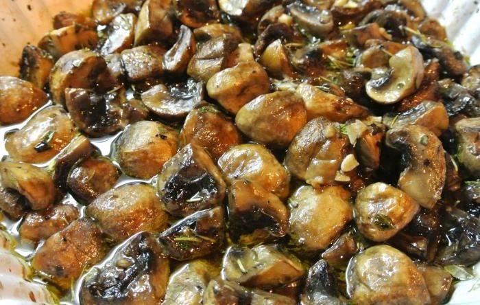Жаренный гриб синяк