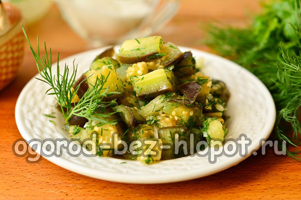 маринованные баклажаны с чесноком и зеленью