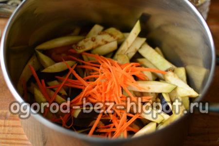 сложить овощи в кастрюлю