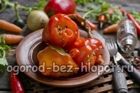 перец фаршированный капустой
