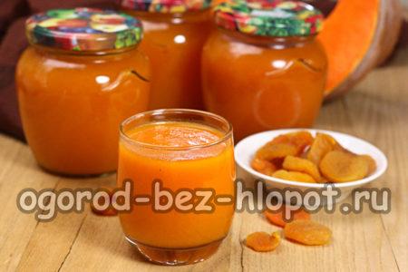 сок из тыквы с курагой готов