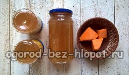 тыквенный сок с яблоками