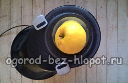 яблоки пропустить через соковыжималку