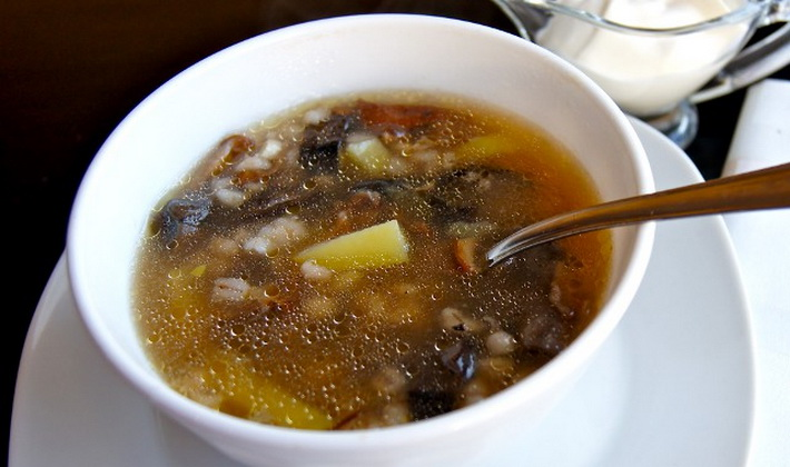 Суп с грибов зонтиков