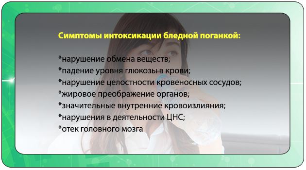 Симптомы отравления грибом