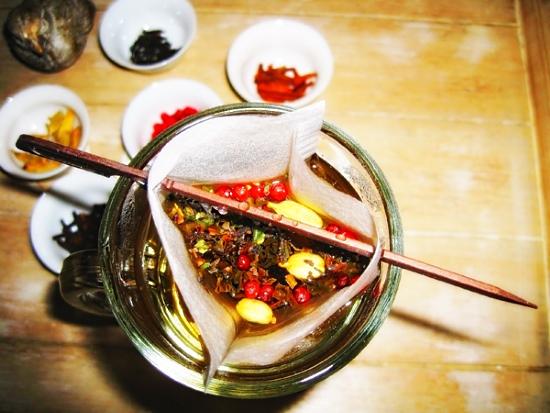 Зеленый чай с красным перцем
