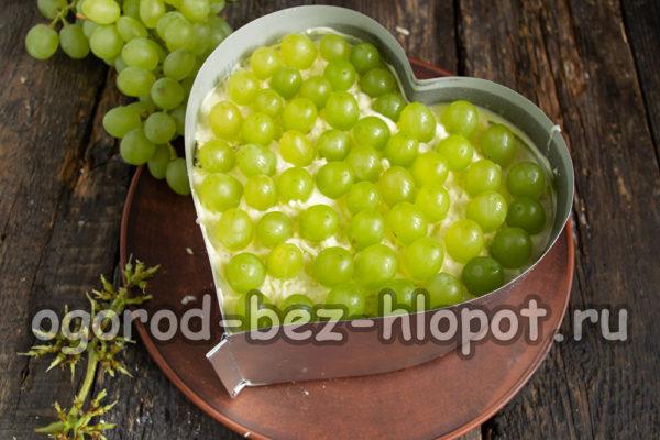 слой винограда