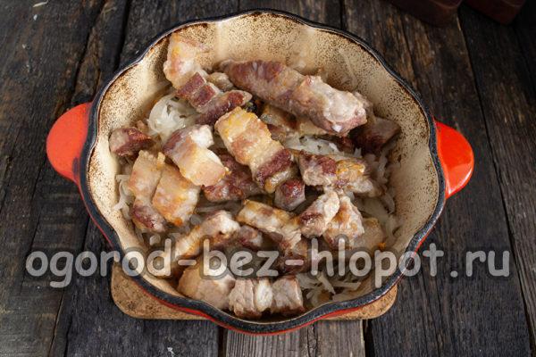 к капусте добавить свинину