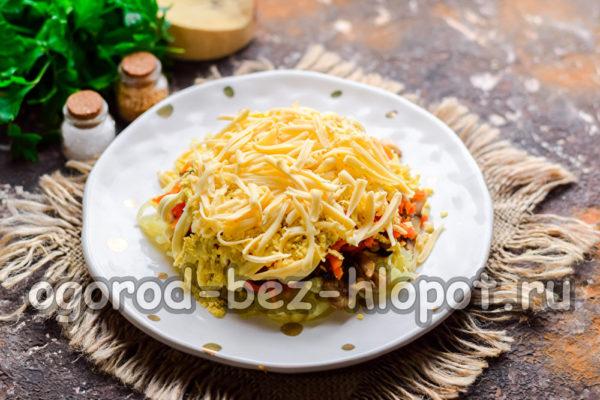 слой натертого сыра