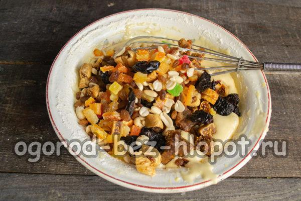 добавить орехи и сухофрукты