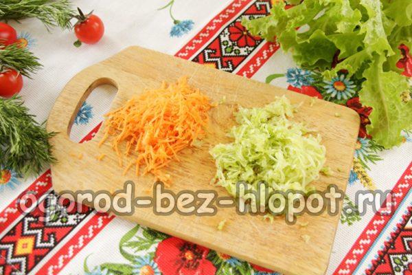 морковь и кабачок натереть на терке
