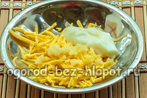 сыр, чеснок, майонез