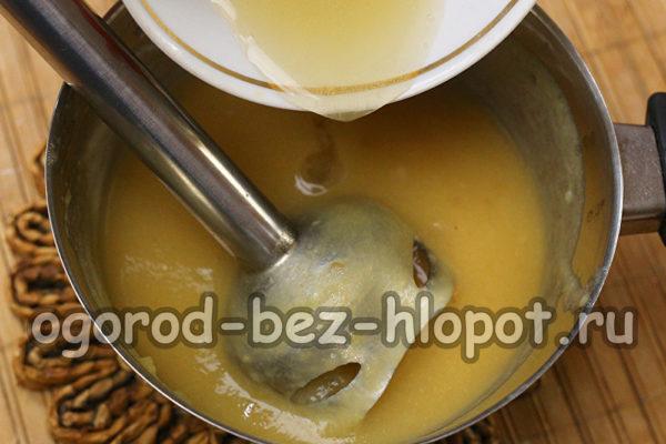 добавить желатин к пюре