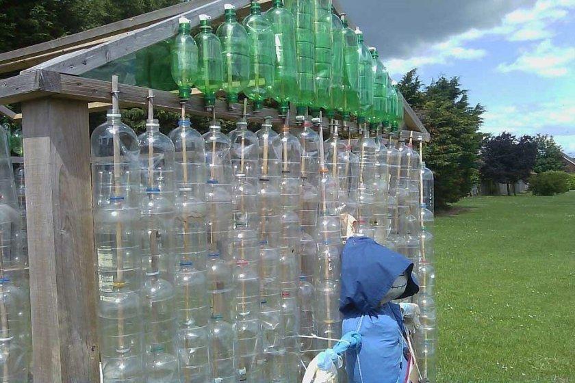 теплица из бутылок