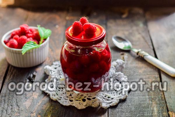 малина в собственном соку без сахара
