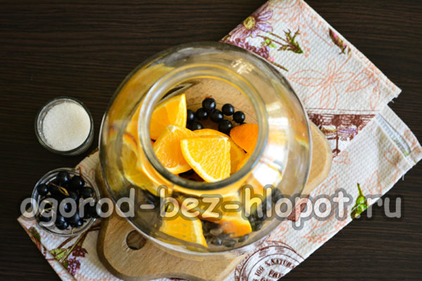 смородина и апельсин в банке