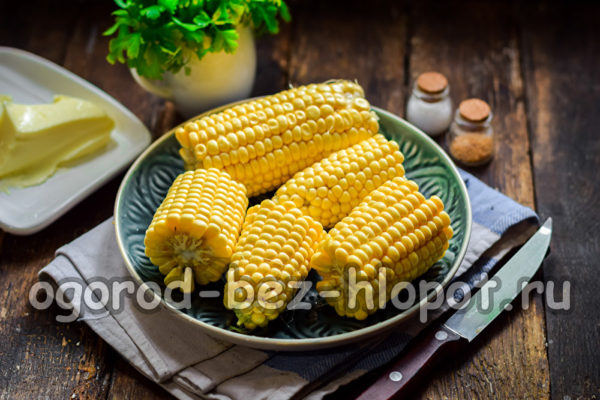 кукурузу почистить и поломать