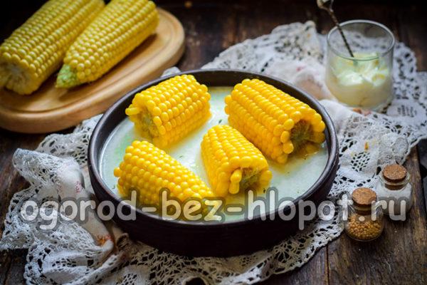 кукуруза с молоком и маслом