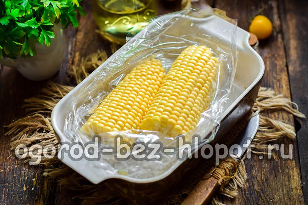 Кукуруза с укропом запеченная в рукаве - рецепт пошаговый с фото