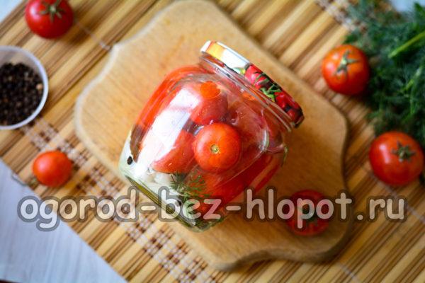 помидоры с водкой готовы