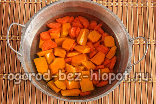 овощи залить водой