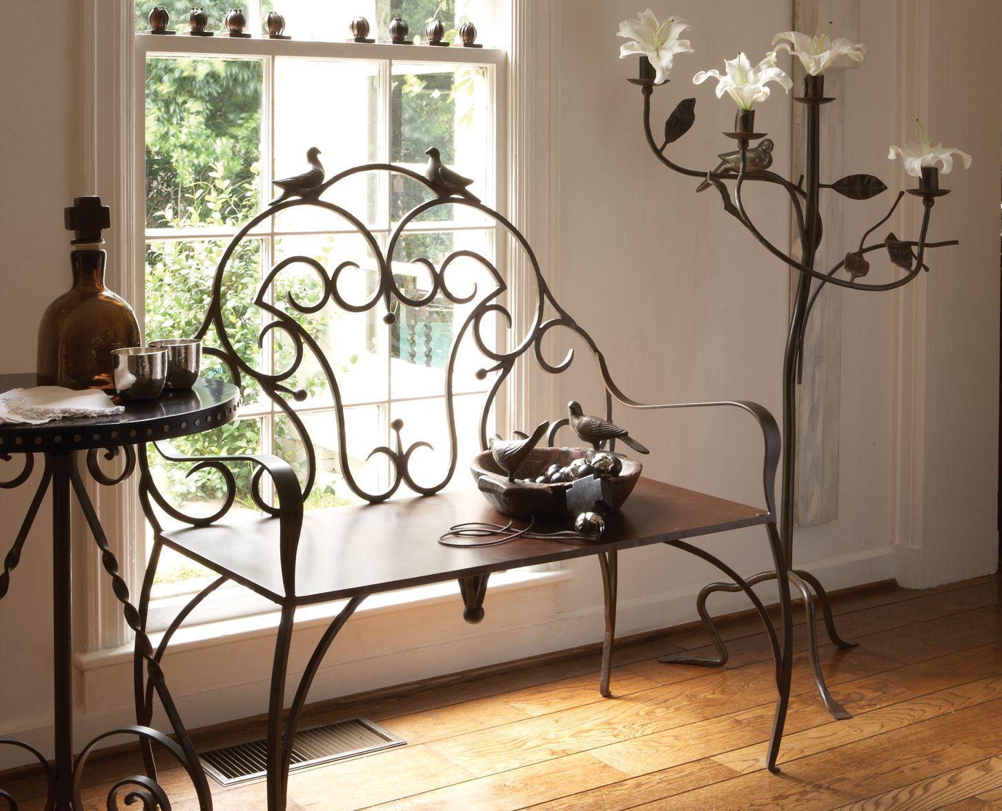 Красивая мебель из металла