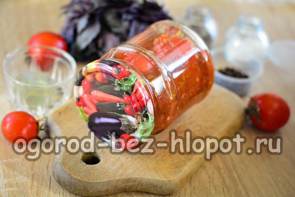 помидоры в аджике на зиму