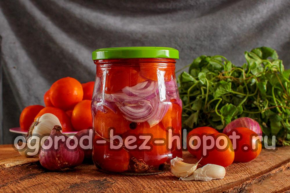 салат из помидоров и лука на зиму слоями
