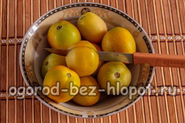 помидоры надрезать