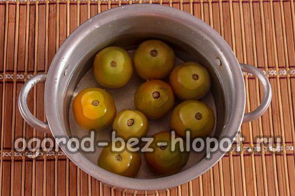томаты залить кипятком