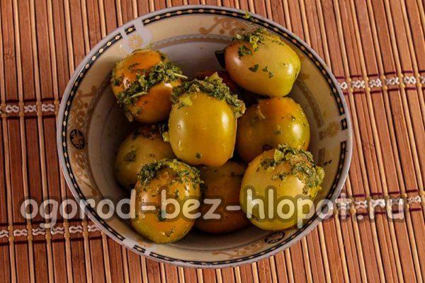 томаты с начинкой