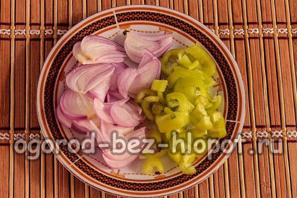 лук и болгарский перец